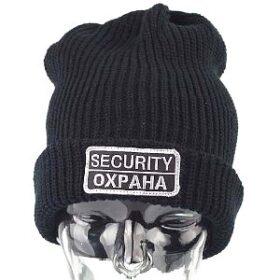 Топла шапка за охранители с надпис ОХРАНА