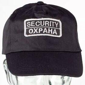 Слънцезащитна шапка за охранители с бродерия ОХРАНА